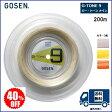 [決算セール] GOSEN ゴーセン バドミントン・ストリングスG−TONE9 200m 40%OFF