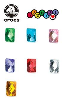 (Crocs) 鱷魚 Jibbitz 寶石矩形矩形