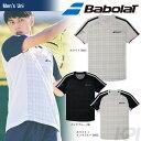 「3月発売予定※予約」「2017新製品」Babolat(バボラ)「Unisex ショートスリーブシャツ BAB-1706」テニスウェア「2017SS」
