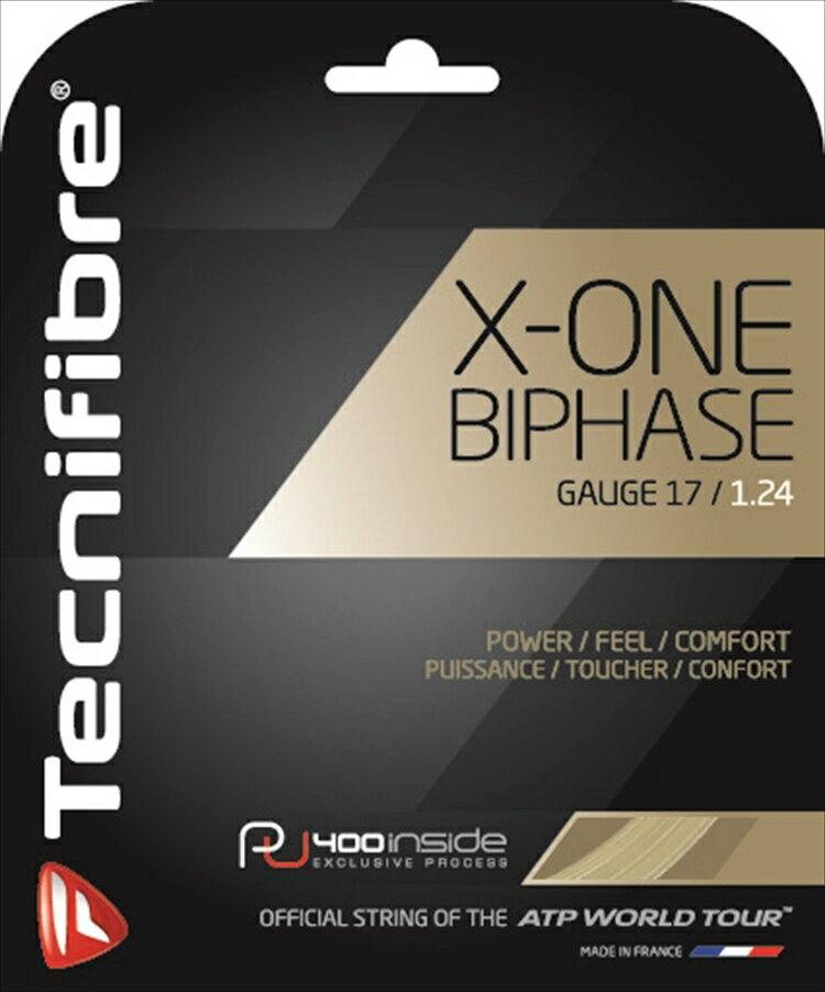 「あす楽対応」 Tecnifibre(テクニファイバー)「X-ONE BIPHASE(エックスワンバイフェイズ) TFG901」硬式テニスストリング(ガット) [ネコポス可]『即日出荷』