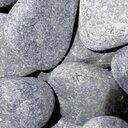 【代引不可】【メーカー直送】天然玉砂利 那智石 黒 LL (約40mm) 約15kg (宅配便)