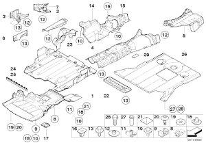 【楽天市場】【耐久性抜群】BMW E46 エンジンアンダーカバー エンジンルームシールド 318i 320i