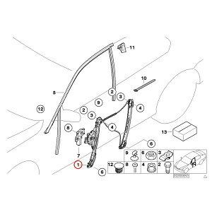 6ヶ月保証付BMWE463シリーズパワーウィンドウレギュレーター右フロント51337020660T316i318i320i323i325i328i330i【あす楽対応_関東】