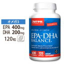 EPA-DHAバランス 120粒《約4ヵ月分》Jarrow formula(ジャローフォーミュラ)フィッシュオイル オメガ3オメガ3 オメガ6 健康 サプリメント 脳トレ