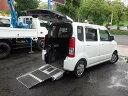 ワゴンR チェアキャブ介護福祉 車いす用スローパー 電動固定8ナンバー(スズキ)【評価書付】【中古】