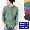 WALLA WALLA SPORT ワラワラスポーツ 3/4 BASEBALL MOCK TWIST ベースボールカットソー / メンズ カットソー Tシャツ ロンT MADE IN US..