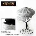キャスケット NEW YORK HAT ニューヨークハット 6014 Cotton Sweatshirt Spitfire スウェット キャスケット NEWYORKHAT ニューヨークハット 帽子 メンズ レディース ニット ニューヨークハット メンズ 大きいサイズ グレー ブラック 黒