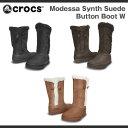 【12/21(木)1:59まで♪大感謝祭限定クーポン配布中!】【在庫処分】クロックス モデッサ シンセティック スエード ボタン ブーツ ウィメンズ Crocs Modessa Synth Suede Button Boot Womens