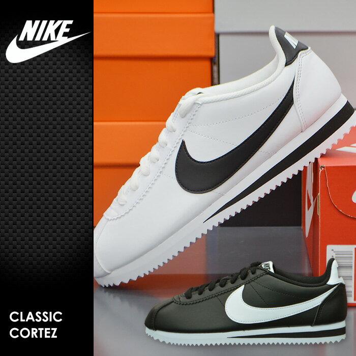 ナイキ クラシック コルテッツ レザー NIKE CLASSIC CORTEZ LEATHER 807471-010 ナイキ スニーカー レディース 黒 ブラック 靴 シューズ