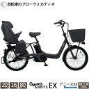 電動自転車 3人乗り ギュットアニーズEX 20インチ 子供乗せ チャイルドシート 2019 完全組立 BE-ELAE033 パナソニック 送料無料