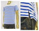 CATHYS CLOSET キャセイクロセット リゾート ボートネック ボーダー Tシャツ メンズ 【43702801RBLマリン】