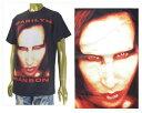 OFFICIAL LICENSE オフィシャル ライセンス Marilyn Manson マリリン マンソン Justin Bieber ジャスティンビーバー着用 Tシャツ メンズ 【20532026 マリリン】