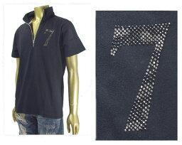 VIOLA RUMORE ヴィオラルモーレ イタリアンカラー ラインストーン パイピング 使用など随所にこだわり満載 ZIP UP 衿元のジップが斬新 ポロシャツ メンズ 【A71304 3-3ラインS】