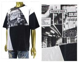 B ONE SOUL ビーワンソウル BLACK PHOTO TEE 幾何学フォトカットの斬新なデザイン Tシャツ メンズ 【7570069-81フォト】