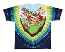 OFFICIAL LICENSE オフィシャル ライセンス USAロックバンド Grateful Dead グレイトフル・デッド のキャラクター デッドベアーのタイダイ染め Tシャツ メンズ
