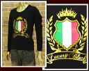 LUXURY BLACK ラグジュアリーブラック ロングTシャツ メンズ 【LB12SS-03 イタリアン】【あす楽対応】