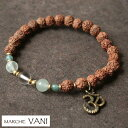 其它 - VANI ブレスレット apatite 【vani ヴァニ ブレスレット ヨガ アクセサリー 天然石 ルドラクシャ 瞑想】