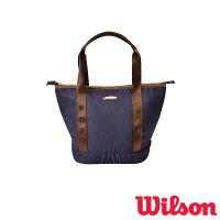 WILSON◆2019年4月発売◆テニスバッグ W BEAR SMALL TOTE NAVY WR8001702001 ウィルソン バッグの画像