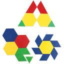 ラーニング リソーシズ(Learning Resources) 算数教材 パターンブロック ミニセット 100個入り プラスチック製 LER0634 正規品