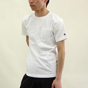 【クーポンで20%OFF】チャンピオン/Champion 半袖ポケットTシャツ T1011 クルーネック S/S POCKET T-SHIRTS C5-B303 メンズ【1点のみメール便可能】【コンビニ受取可能】