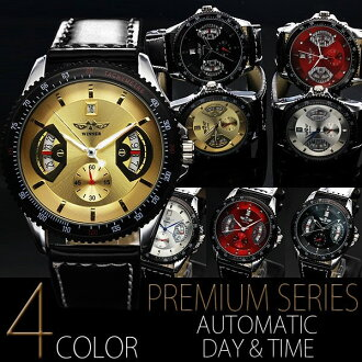 Men's men's Watch (black) BOX and comes with a warranty certificate automatic winding skeleton watch simple design 44 mm in diameter, while the Roundhouse size face 2407000-AC-W-BCG5