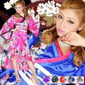 孔雀和柄花魁着物ロングドレス/大人気花魁着物シリーズのロングドレス/帯はフックになっているのでリボンを好きな位置に/セクシー浴衣・セクシー着物ドレス・パーティ、キャバクラ、お店、キャバ衣装・ナイトドレス・セクシードレス/DR-3883847-0006