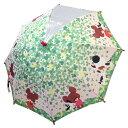 長傘 キッズ 雨具 45cm 1ヶ所透明 くまのがっこう 1...