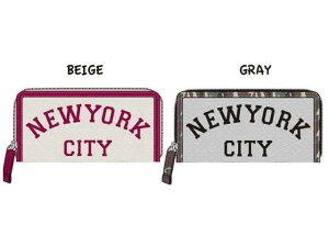 NEW YORKバリエラウンド長札 ベージュ 人気のシティロ