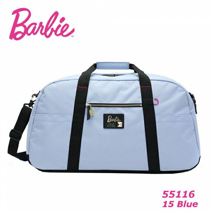 ※ Barbie アッシュ トラベルボストン【ブルー】 バービー ボストンバッグ 旅行バッグ 55116 修学旅行 バッグ レディース 大容量 ナイロン