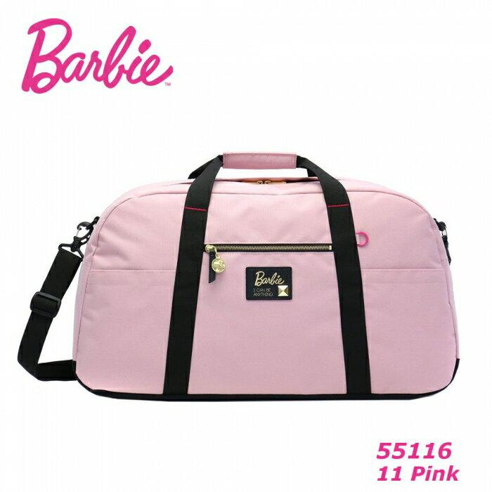 ※ Barbie アッシュ トラベルボストン【ピンク】 バービー ボストンバッグ 旅行バッグ 55116 修学旅行 バッグ レディース 大容量 ナイロン