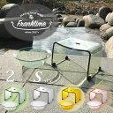 【送料無料】バスチェアーと風呂桶 Sセット 透明感の高いアクリル板を使用した品のあるフランクタイムシリーズ franktime 透明アクリルの風呂椅子 フランクタイム