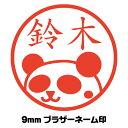パンダだらけ パンダ スタンプ Vol 10 かわいいイラスト入りネーム印