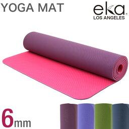 eka TPEヨガマット 6mm キャリーロープ付き エカ トレーニングマット ストレッチマット エクササイズマット ホットヨガマット ダイエット 器具 マット ヨガ ストレッチ おしゃれ ダイエット器具 腹筋 体幹 お腹 引き締め yoga