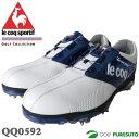 【即納!】ルコックゴルフ ゴルフシューズ メンズ QQ0592 ホワイト×ブルー ヒールダイヤル式WLS[le coq sportif 靴]【あす楽対応】