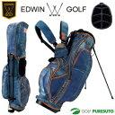【即納!】エドウィンゴルフ スタンド式キャディバッグ 9型 EDWIN-036S (28314)【あす楽対応】
