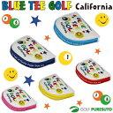 【即納!】ブルーティーゴルフ カルフォルニア スマイル&ピンボール パターカバー【マレット型対応】[BLUE TEE GOLF California]