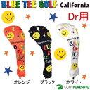 【即納!】ブルーティーゴルフ カルフォルニア スマイル●ニット●ヘッドカバー ドライバー用 [BLUE TEE GOLF California]