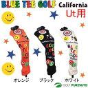 【即納!】ブルーティーゴルフ カルフォルニア スマイル●ニット●ヘッドカバー ユーティリティー用 [BLUE TEE GOLF California]