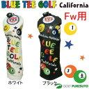 【即納!】ブルーティーゴルフ カルフォルニア スマイル&ピンボールヘッドカバー フェアウェイウッド用[BLUE TEE GOLF California]