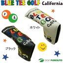 【即納!】ブルーティーゴルフ カルフォルニア スマイル&ピンボール パターカバー 【ピン型、ハーフマレット型対応】[BLUE TEE GOLF California]【あす楽対応】
