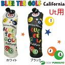 【即納!】ブルーティーゴルフ カルフォルニア スマイル&ピンボールヘッドカバー ユーティリティー用 [BLUE TEE GOLF California]