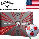 【即納!】【US仕様】キャロウェイ クロムソフト X トゥルービス ゴルフボール 1ダース(12球入)[Callaway CHROME SOFT X TRUVIS USモデル]【あす楽対応】