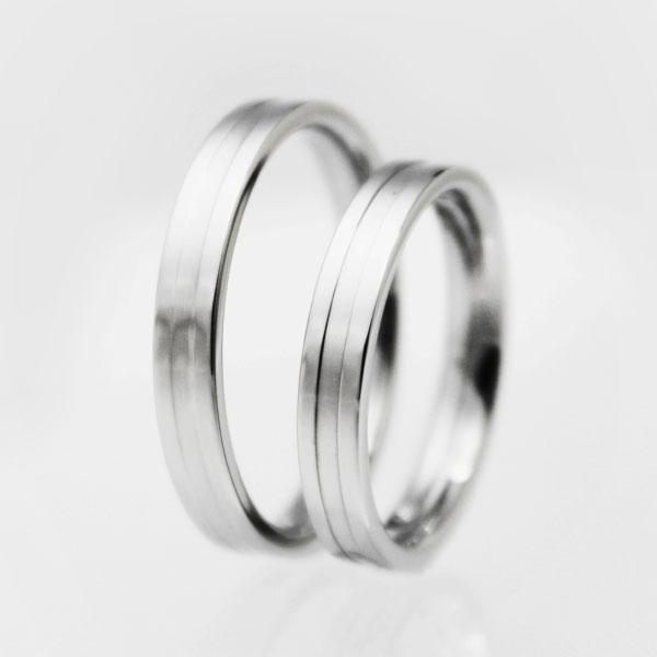 シンプルデザイン 純チタンマリッジリング(金属...の紹介画像3