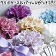 【コサージュ】ポンポンダリアの高品質造花コサージュ ヘアピン髪飾り2way ピンク/ホワイト/ブルー/ベージュ/パープル 入学式・卒業式に