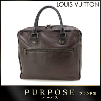 Louis Vuitton LOUIS VUITTON Utah Yulong leather business bag Cafe Brown M92532