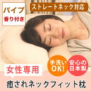 ストレートネック枕 癒されネックフィット枕カバー付セット【パ...