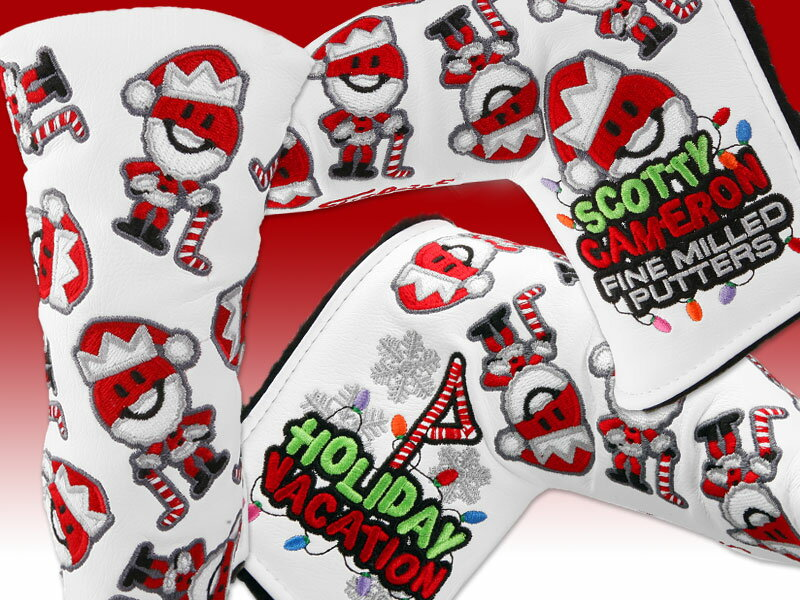 送料無料!★スコッティーキャメロン ヘッドカバー 2012 SCOTTY CAMERON 2012 HOLIDAY DANCING SANTA PUTTER MAN HEADCOVER WHITE 100163