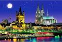 風景 1000ピース ジグソーパズル 月夜のケルン大聖堂 マイクロピース (26x38cm)(M71-858)[ビバリー] t101