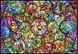 【あす楽】【お買い物マラソン】ディズニー オールキャラクター 1000ピース ジグソーパズル ディズニー ステンドアート オールスター ステンドグラス(51.2x73.7cm)【30%OFF】(DS-1000-764)[テンヨー] t112
