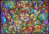 【あす楽】ディズニー オールキャラクター ジグソーパズル 500ピース ディズニーオールスター ステンドグラス D-500-457(D500-457)[テンヨー] t112